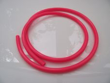 Fuel pipe, carb overflow pipe, pink silicone fuel line, 5mm internal diameter
